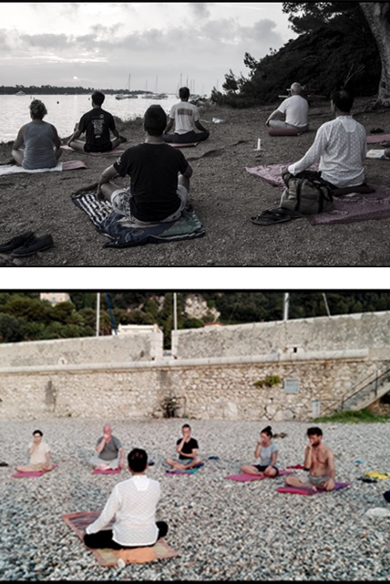 Yoga in barca a vela